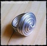 Bague ronde en fil aluminium
