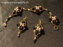 bijoux artisanaux avec des perles