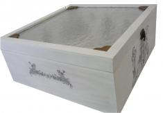 Boite en bois romantique 30x31