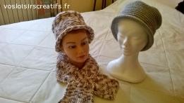 bonnet chapeau  tricoté en laine