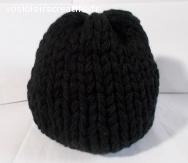 bonnet laine acrylique noir, grosse épaisseur