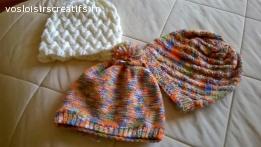 bonnets tricotès en laine aux aiguilles