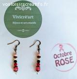 """Boucles d'oreilles  """"  BAROQUE ROSE"""""""