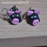 Boucles d'oreilles cochons