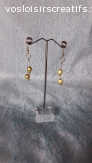 Boucles d'oreilles en perles doré