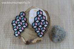 Boucles d'oreilles en perles miyukis