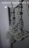 Boucles d'oreilles en plastique dingue / fou : papillons