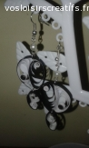 Boucles d'oreilles en quilling: yin yang