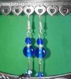 Boucles d'oreilles Les élégantes Bleues