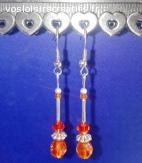 Boucles d'oreilles Oranges Acidulées