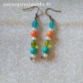 Boucles d'oreilles   perles simples