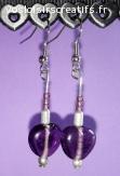 Boucles d'oreilles Purple Rain