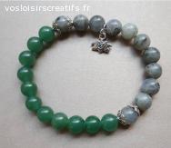 Bracelet Agate et pierre de Lune
