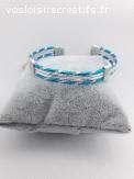 Bracelet alu 4 brins