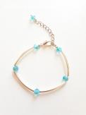 Bracelet argenté et turquoise