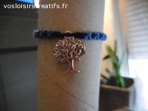 Bracelet brésilien arbre bleu et noir