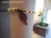 Bracelet brésilien arbre jaune et noir