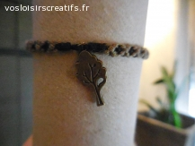 Bracelet brésilien arbre marron et noir