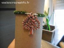 Bracelet brésilien arbre vert et blanc