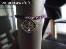 Bracelet brésilien arbre violet et blanc