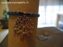 Bracelet brésilien arbre violet et noir