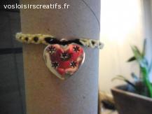 Bracelet brésilien coeur étoile jaune et noir