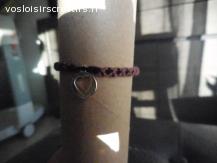 Bracelet brésilien coeur violet et noir