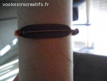 Bracelet brésilien plume orange et noir