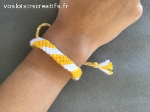 Bracelet brésilien simple duo couleurs