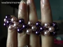 Bracelet chic violets