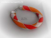 "Bracelet ""Cornaline"" - RESERVE -"
