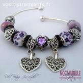 Bracelet de chams joncs en écrin, compatible Pandora