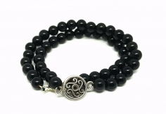 Bracelet Onyx noir 2 tours