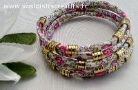 bracelet  spirale en liberty eloise rose
