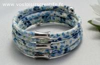 bracelet  spirale en liberty