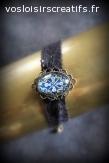 Bracelet Vintage Noir, Bleu & Jaune