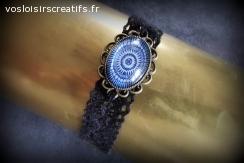 Bracelet Vintage Noir & Bleu