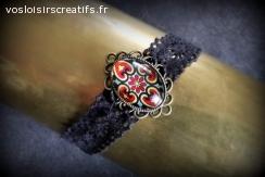 Bracelet Vintage Noir & Rouge