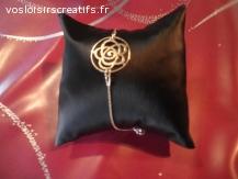 braecelets fins en argent 925/1000, or rose