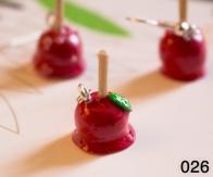Breloque Pomme d'Amour / Boucles d'oreille