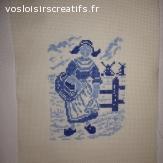 """Broderie point de croix 26 x 21 cm """"Hollandaise"""""""