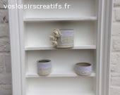 cadre aménagé en étagère