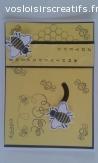 Carte animée anniversaire abeilles