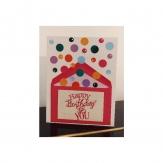 Carte anniversaire enfant jet de confetti