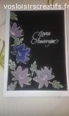 Carte anniversaire fleurs