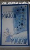 Carte anniversaire magicien
