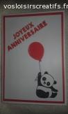 Carte anniversaire panda