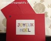 Carte Joyeux Noël 110 x 155 mm brodée