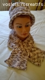chapeaux et bonnet  tricotés en laine et fait au crochet