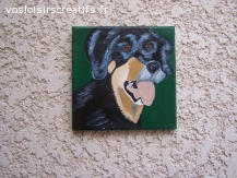 chien  en peinture